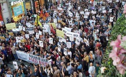 Gezi protestolarının 5. yıldönümünde Taksim'de yürüyüş yapıldı
