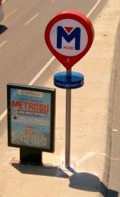 AKP'li belediye, çalışması dahi başlamayan metro için tabela dikti