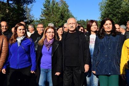 Kılıçdaroğlu Abant Tabiat Parkı'nda yürüyüş yaptı