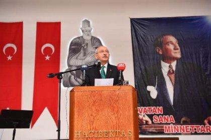 Kılıçdaroğlu Hacı Bektaş Veli'yi anma törenlerinde konuştu