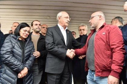Kılıçdaroğlu Erdin Bircan'ın ailesine başsağlığı ziyaretinde bulundu