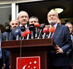 Kılıçdaroğlu, Temel Karamollaoğlu ile görüştü
