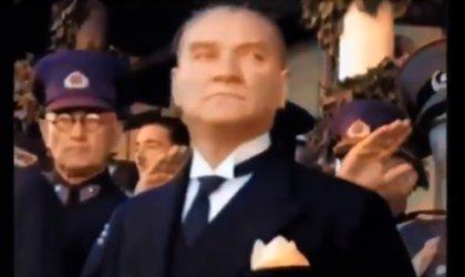 Mustafa Kemal Atatürk'ün, Yapay zeka ile renklendirilmiş videosuna büyük ilgi