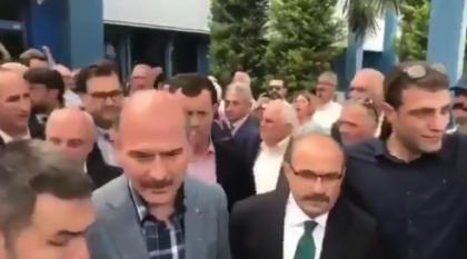 Soylu Trabzon'da protesto edildi