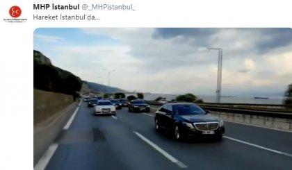 MHP Genel Başkanı Bahçeli, İstanbul'la Mitil atmaya Mercedes ile geldi