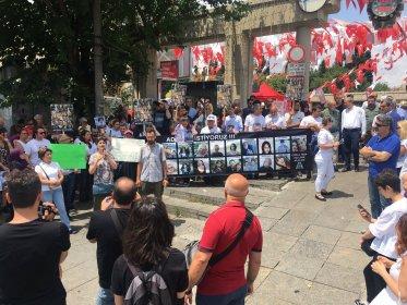 Çorlu tren faciası mağduru aileleri adalet için Bakırköy'deydi
