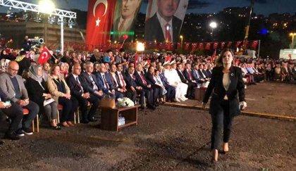 Erdoğan 15 Temmuz anmasında Kılıçdaroğlu'na yüklendi, CHP'li başkan alanı terk etti: 15 Temmuz'u siyasi şova dönüştürenlerin karşısındayız