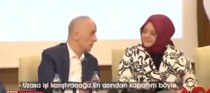 İşçilerin hakkı için hükümetle masaya oturan TÜRK-İŞ başkanının sözleri açık kalan mikrofondan duyuldu: 'Uzasa işi karıştıracağız'