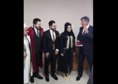 Türkiye Barolar Birliği Başkanı Metin Feyzioğlu, Savcı Sayan'ın imamla birlikte kıydığı nikahta şahitlik yaptı