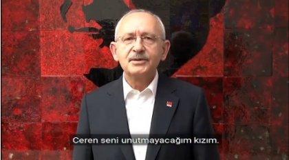 CHP Lideri Kılıçdaroğlu'ndan Ceren Özdemir paylaşımı