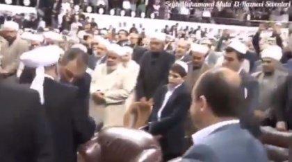 Adalet Bakanı Gül'ün Suriyeli Haznevi tarikatı liderinin elini öptüğü görüntüler ortaya çıktı