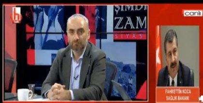 İlk kez AKP'li bir bakan Halk TV'nin canlı yayınına bağlandı