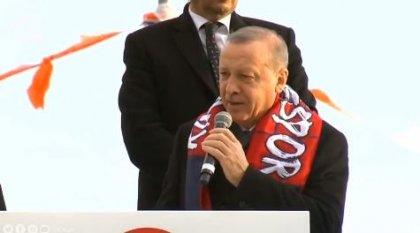 Erdoğan çığ felaketinde yaşamını yitirenlerin sayısını açıkladı mitingine devam etti: TOKİ vasıtasıyla bugüne kadar 4 bin 794 konut inşa ettik...