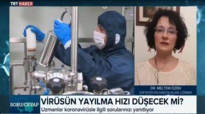 TRT'ye katılan uzman: 'Türkiye'de vaka sayısı 600 ile 900 bin arası'