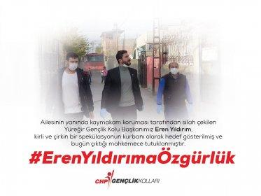 CHP Yüreğir Gençlik Kolu Başkanı Eren Yıldırım tutuklandı