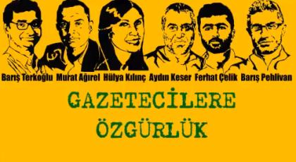 Tutuklu gazeteciler için kampanya: 'Biz bu kumpası görmüştük'