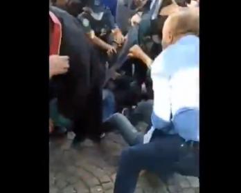 Ankara'da nöbette olan baro başkanlarına polis müdahalesi