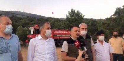 Tarım Orman Bakanı Pakdemirli ve İstanbul Valisi Heybeliada'da olay yerinde