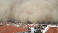 Ankara Polatlı'da kum fırtınası!