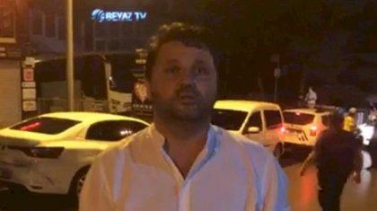 Boşnaklar Beyaz TV önünde Erdoğan Erden Basın açıklaması yaptı