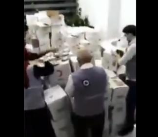 'Kızılay'ın yardım kolilerini açıp, içindeki malzemeleri Suriyeli derneklerin kolilerine yerleştiriyorlar'
