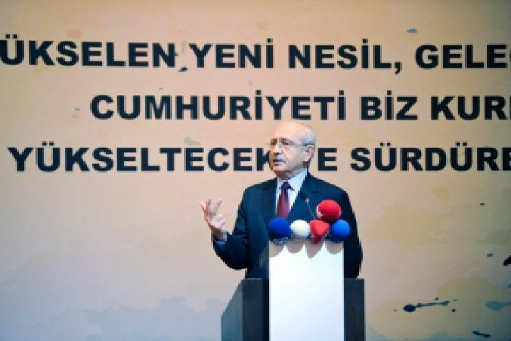 """CHP lideri Kemal Kılıçdaroğlu Hayırlı Üniversiteliler"""" gurubunu oluşturan gençlerle buluştu"""