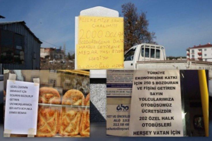 'Dolarınızı bozdurun' çağrılarına birbirinden ilginç destek kampanyaları