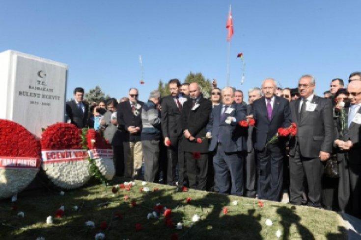 Kılıçdaroğlu, Bülent Ecevit'in anma törenine katıldı