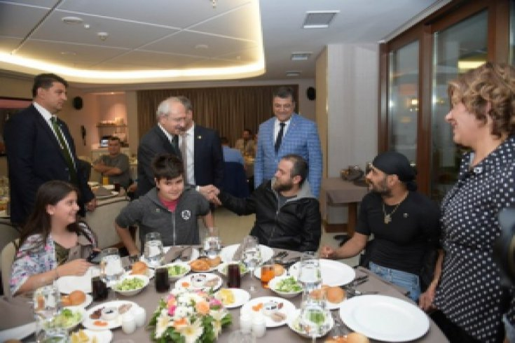 Kılıçdaroğlu, Gazi'lerle iftarda buluştu