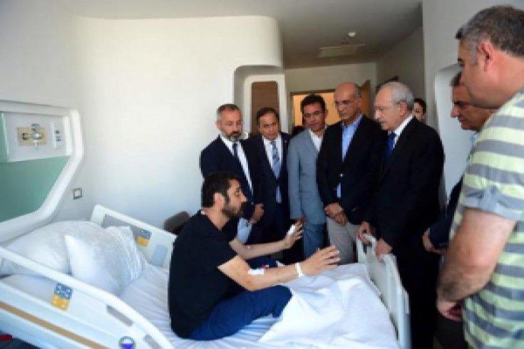 Kılıçdaroğlu, yaralanan vatandaşları ziyaret etti
