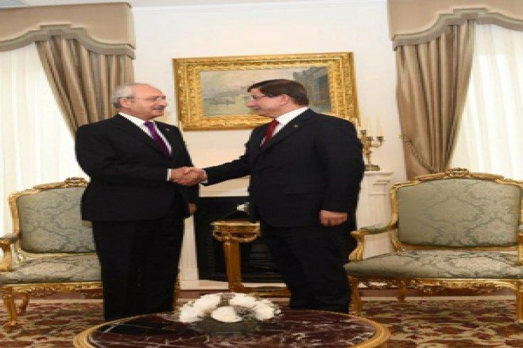 Kemal Kılıçdaroğlu, Ahmet Davutoğlu ile Başbakanlık'ta bir araya geldi