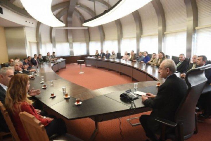 Kemal Kılıçdaroğlu, Antalya hemşeri  dernek ve federasyon temsilcilerini kabul etti