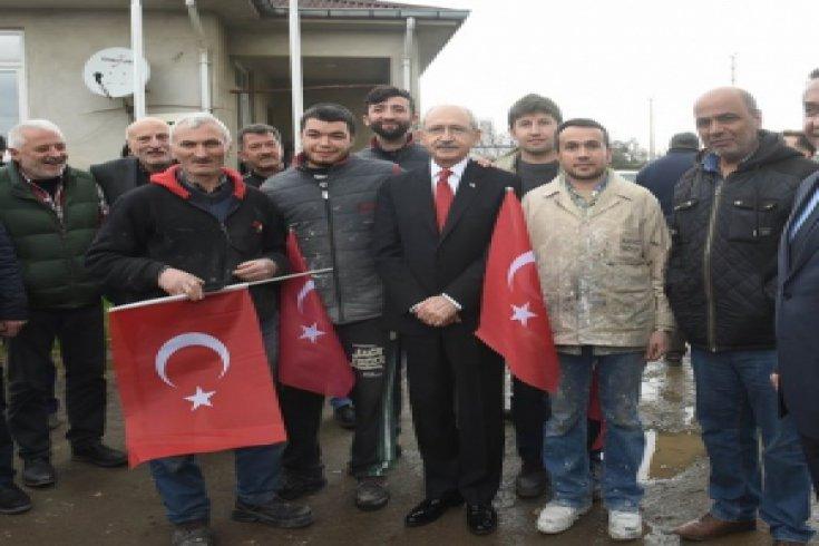 Kemal Kılıçdaroğlu, Ordu'da Çay fabrikasını ziyaret etti