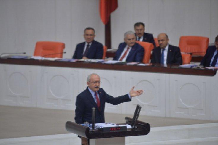 Kılıçdaroğlu, 2018 yılı Bütçe Kanunu Tasarısı üzerine konuştu