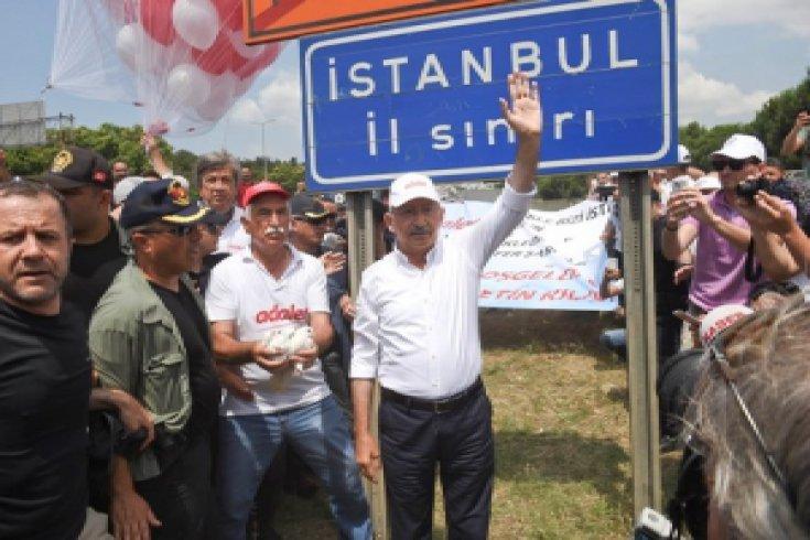 Kılıçdaroğlu Adalet Yürüyüşü'nün 23. gününde İstanbul'a ulaştı