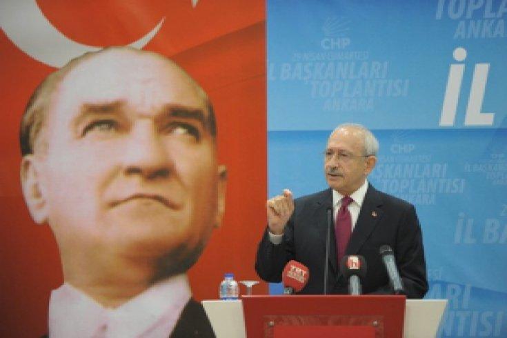 Kılıçdaroğlu, Ankara'da gerçekleşen İl Başkanları toplantısının açılışında konuştu