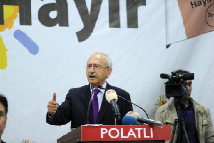 Kılıçdaroğlu, Ankara'nın Polatlı ilçesinde STK'larla bir araya geldi