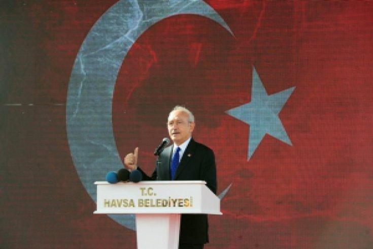 Kılıçdaroğlu, Havsa Belediyesi'nin Atıksu Arıtma ve Kanalizasyon projesinin açılış törenine katıldı