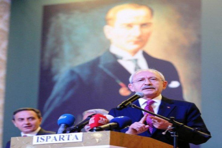 Kılıçdaroğlu, Isparta'da STK, muhtarlar ve kanaat önderleri ile buluştu