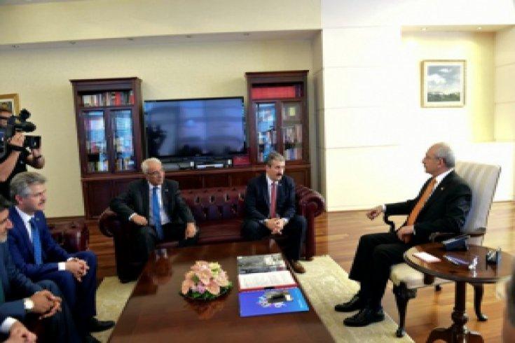Kılıçdaroğlu, Mutafa Destici ve heyetini kabul etti