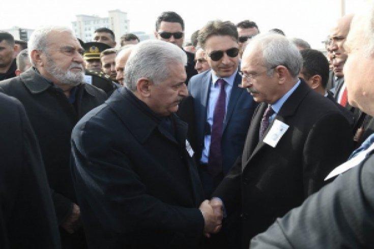 Kılıçdaroğlu, şehit Mahmut Uslu'nun cenaze törenine katıldı