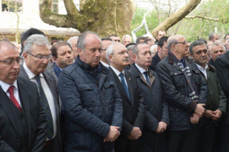 Kılıçdaroğlu, Şerif İnce'nin cenazesine katıldı