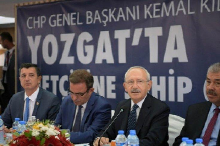Kılıçdaroğlu, Yozgat'ta hububat üreticileriyle bir araya geldi