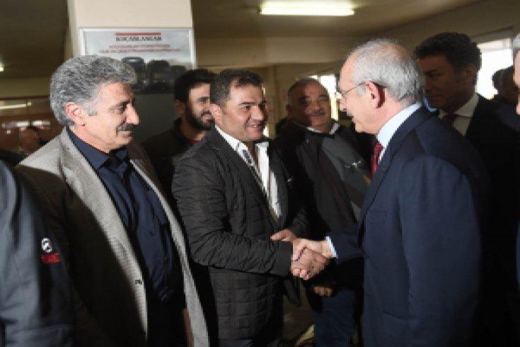 Kılıçdaroğlu'ndan kamyonculara ziyaret