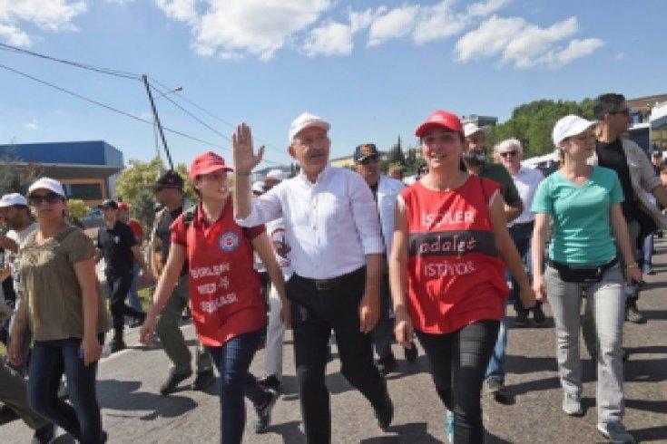 Kılıçdaroğlu'nun Adalet Yürüyüşü 22. gününde