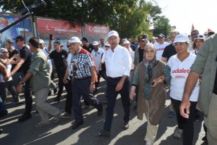 Kılıçdaroğlu'nun Adalet Yürüyüşü 23. gününde