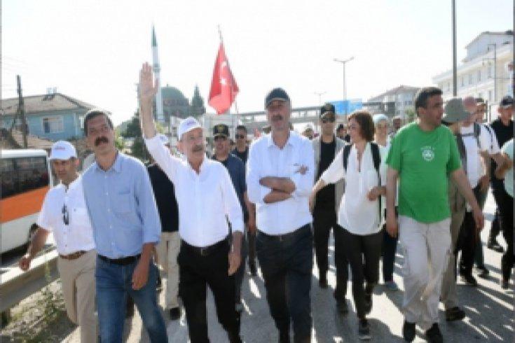 Kılıçdaroğlu'nun Adalet Yürüyüşü'nün 14. günü