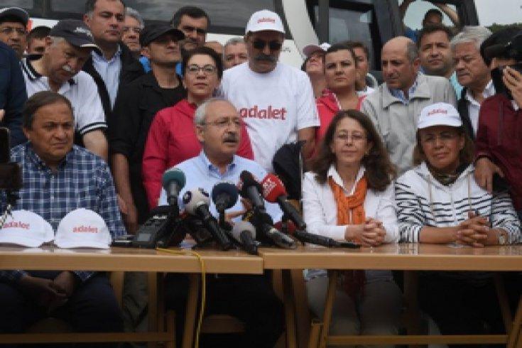 Kılıçdaroğlu'nun, Adalet Yürüyüşü'nün 5. günü