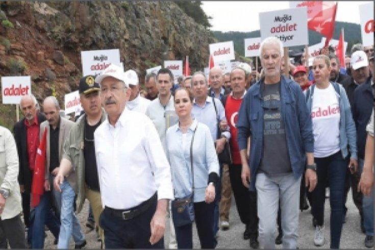 Kılıçdaroğlu'nun, Adalet Yürüyüşü'nün 7. günü