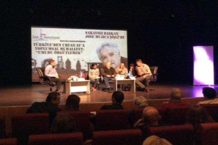 Saraysız Başkan Jose Mujica Şişli'de